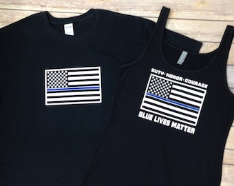 Blue Lives Matter - Thin Blue Line tee