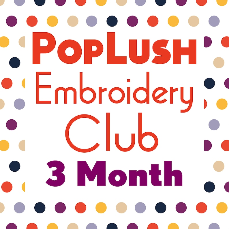 EMBROIDERY CLUB 3 Month Subscription Pattern of the Month image 0