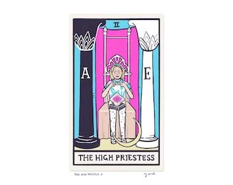 The High Priestess II - Tarot Card Art - 5x7 art print, hand-cut and mounted card