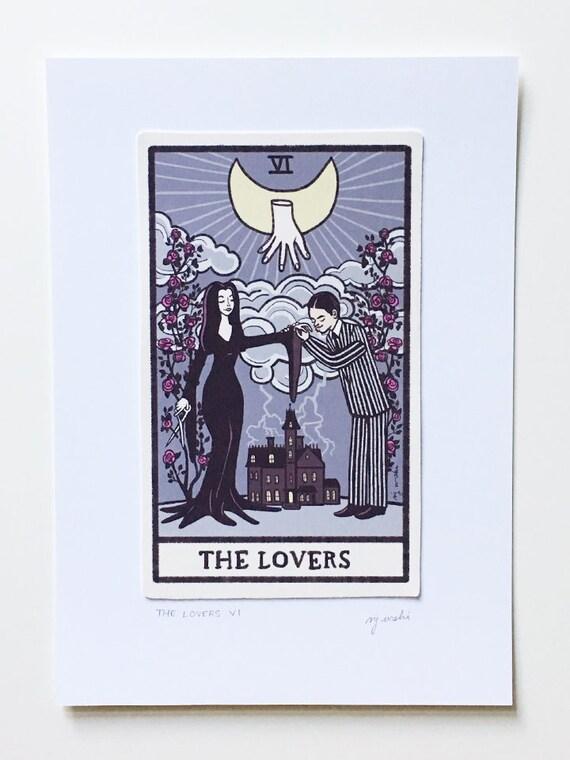 The Lovers (VI) - Tarot Card Art - Addams Family - 5x7 art print