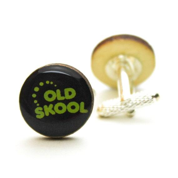 We/'re Going Back Way Back Old Skool Wood Cufflinks