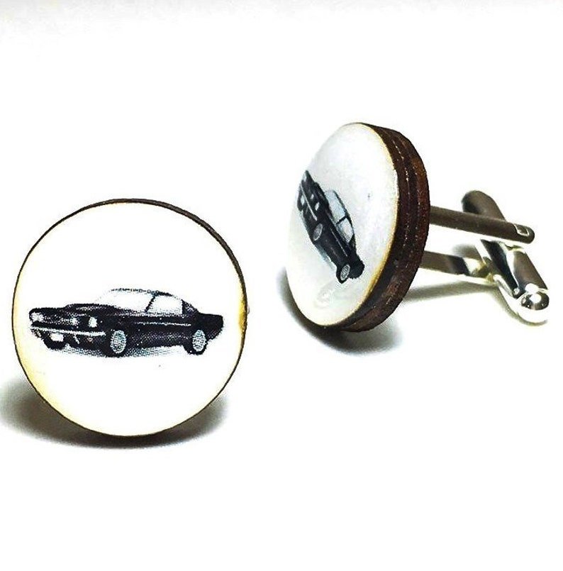 funny wood cuff links gifts for men women gift under 40 I Feel A Sin Coming On Cufflinks