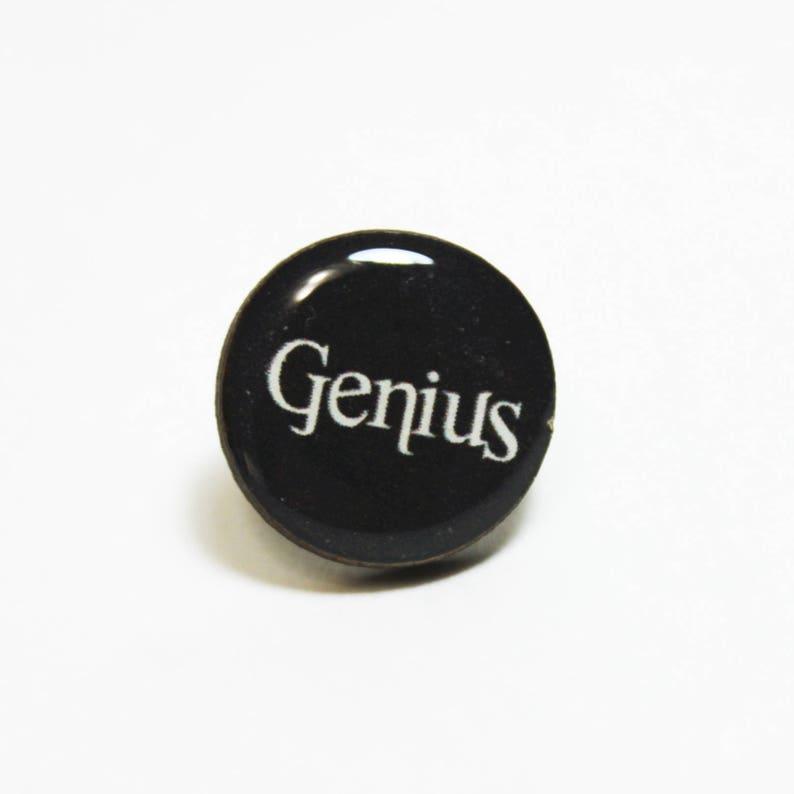 Genius Tie Tack Lapel Pin Movies Mens Accessories Anchorman Will Farrell Quotes Funny Wedding Groomsmen Groom