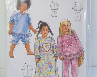 5e65bfdb10 Girl s Pajamas Burda 4224 PJ Pattern