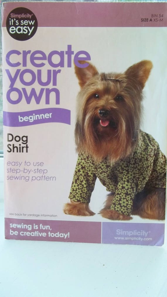 Easy Dog Shirt Pattern Simplicity It\'s Sew Easy Create