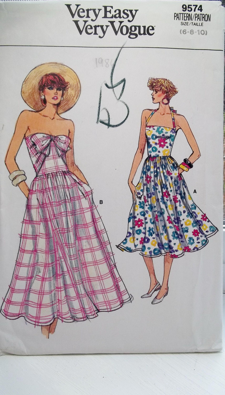 Misses Sommerkleid Vogue 9574 einfach Schnittmuster ärmelloses ...