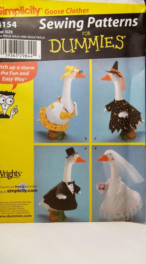Lawn Geese Clothing Pattern Simplicity 4154 Sewing Pattern, Goose ...