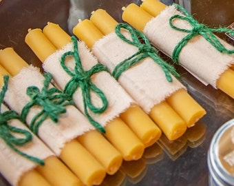 beeswax candles - taper candles - Shabbat candles - holiday candles