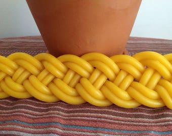 Beeswax Havdalah candle - braided candle - Jewish ritual candle - Jewish wedding gift