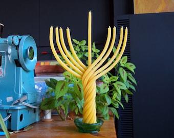 beeswax Hanukkah Menorah candle - Hanukkah candles - Jewish holiday gift - Hanukkah gift