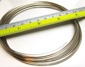 bulk sales -10% / 29-46Gm *41-67loops / Diameter 96mm *3.78inch x 23gauge - Steel Memory Wire for Multi-strands Choker / Necklaces Findings.