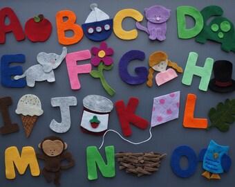 Alphabet Matching Felt Set