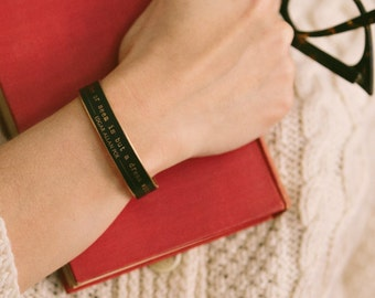 Poetry Cuff - Edgar Allan Poe Jewelry -  Dream Within A Dream - Gothic Poem - Quote Jewelry - Skinny Bracelet - Gift For Him Her