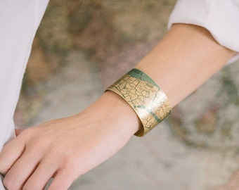 Venice Italy Street Map Cuff Bracelet - Venetian Canals Bridges - Cartography Map Jewelry - Anniversary Gifts For Wife