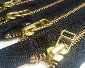 """12 27/"""" #5 Brass Zipper~Separating~ PARROT BLUE ~ #547"""