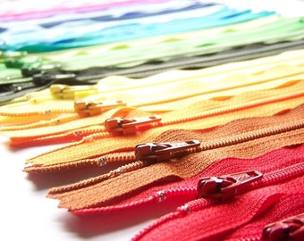 Special Price- 50 Assorted YKK All Purpose Zippers- Available in 3,4,5,6,7,8,9,10,12,14,16,18,20 and 22 Inches