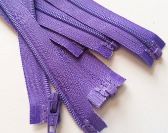 YKK Separating Zippers-  3mm - Nylon Coil- 5pcs-  Grape Purple 281- Available in 6,7,8,10 or 14 Inch