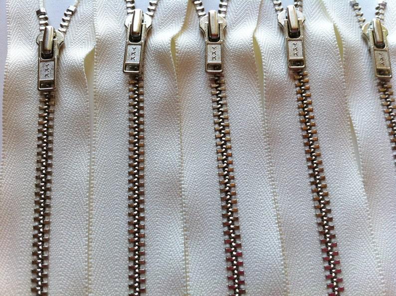 CLEARANCE SALE Metal Zippers ykk closed bottom nickel teeth image 0