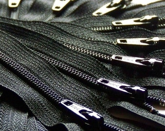 SALE Wholesale Fifty 9 Inch Black 3mm Zippers YKK Color 580