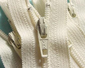 Wholesale 50 Vanilla 6 Inch Ykk Zippers Color 121