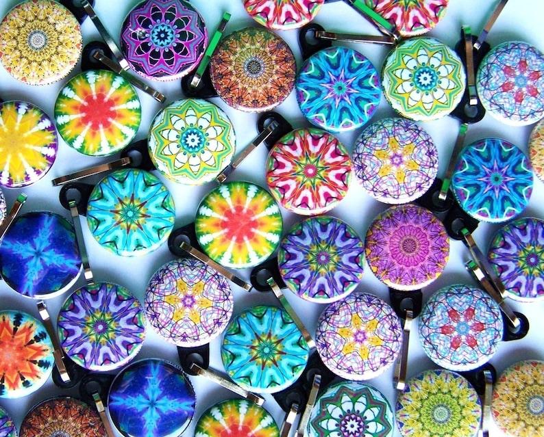 25 Assorted Kaleidoscope Zipper Pulls image 0