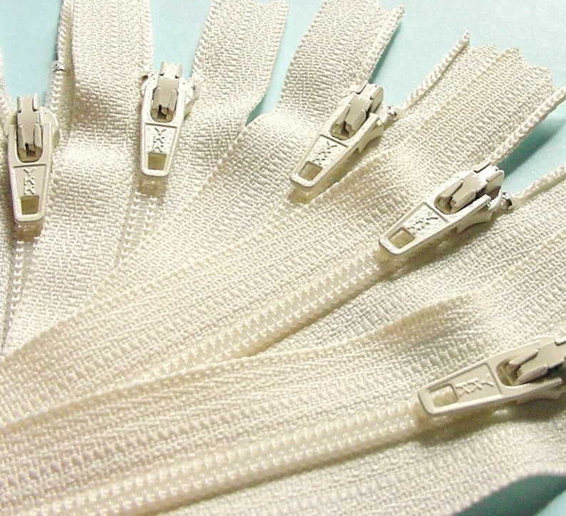 Wholesale Fifty 14 Inch Vanilla YKK Zippers Color 121 SALE image 0
