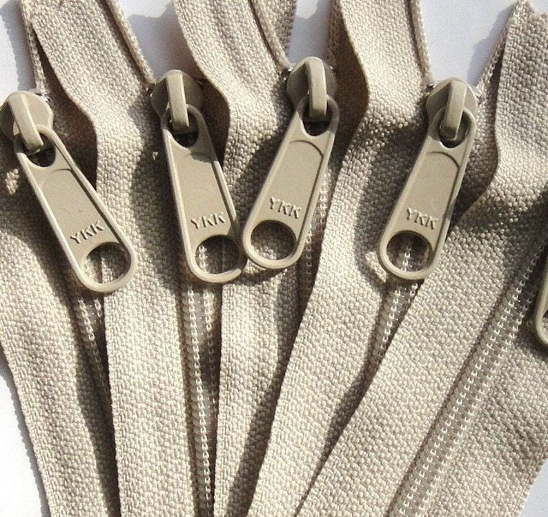 Clearance 4.5 Ykk Purse Zippers with a Long Handbag Pull  5 image 0