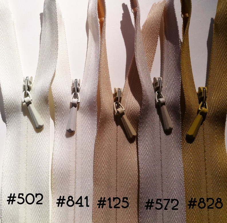 INVISIBLE Zippers  Wholesale 100 Pieces all same size color image 0