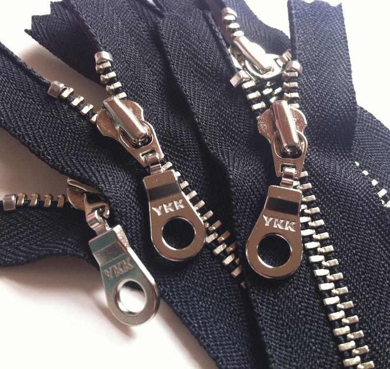 YKK metal zippers silver nickel teeth and donut pull 5 image 0
