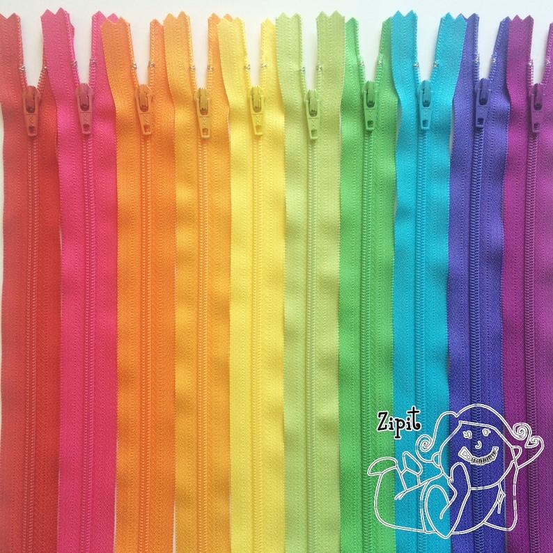 Zippers BRIGHTS ykk coil zipper sampler pack 10 pcs image 0