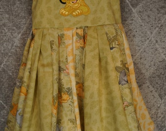 custom boutique twirl dress made with simba patch  size 2-6