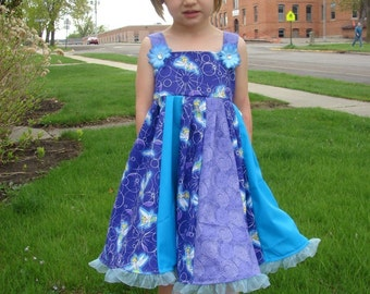 Custom Boutique Twirl Dress Designed with Disney Tinker Bell Fabric 2T-6X