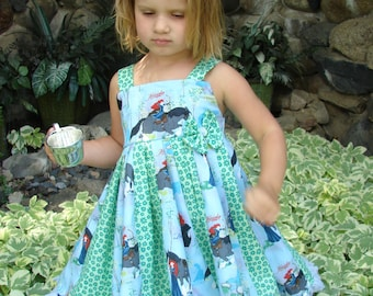 custom boutique twirl dress made with disney brave merida fabric size 2-6