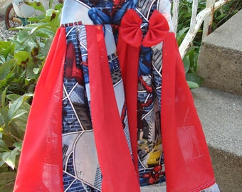 Custom Boutique Twirl Dress Designed with spiderman Fabric 2T-6X