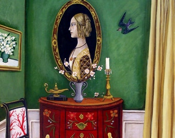 Fine Art Print of the Original Still life painting-Moving Forward-16x12 by Catherine Nolin