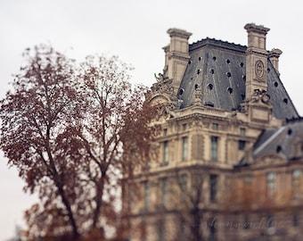 paris travel photography, louvre museum, Musée du Louvre, france, neutral tones, rust, brown, gray, french / louvre no. 4 / 8x10 fine art