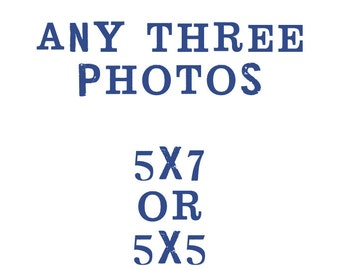 set of 3 5x5 or 5x7 fine art photographs / customize your print, your choice, home decor, wall art, nature photography, travel photography