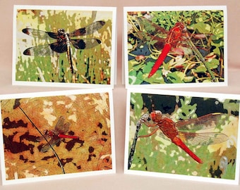 Dragonfly Series Photographic Art Note Cards, Woodland Photo Note Cards, Nature Note Cards Nature Lover Gift