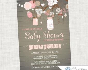 baby shower invitation girl nursery girl baby shower etsy. Black Bedroom Furniture Sets. Home Design Ideas