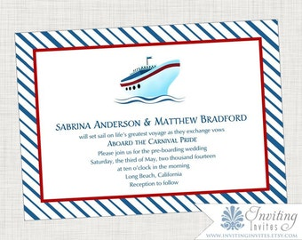 Cruise wedding invitations Etsy