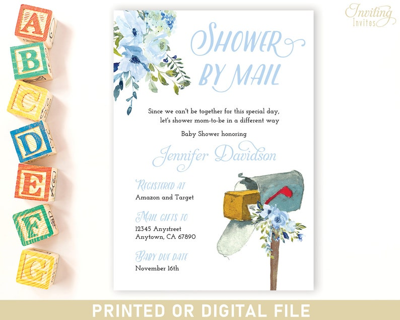 Baby Shower in the mail BY MAIL virtual long distance baby image 0