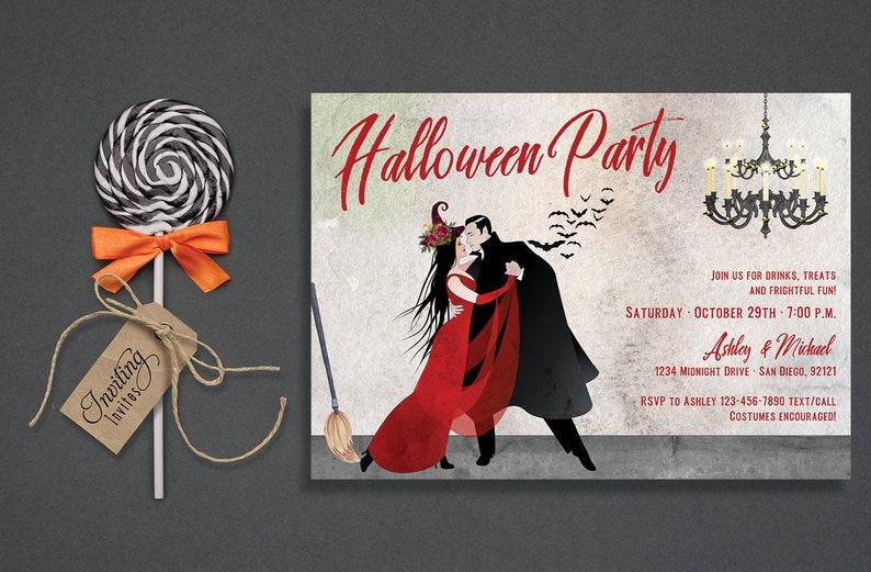 Dancing Couple Halloween Invitation for Adults Halloween image 0