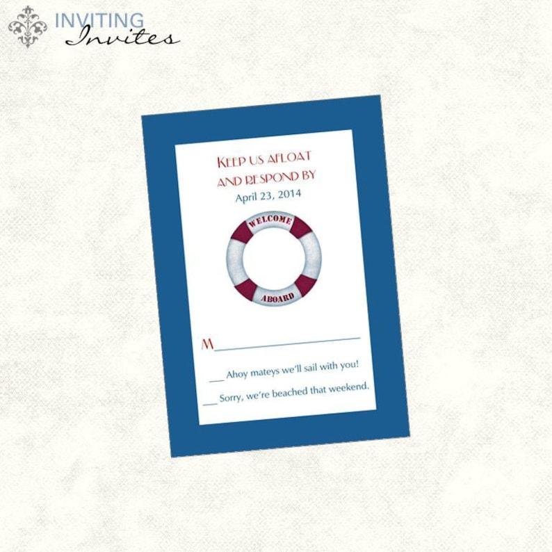Cruise Ship Wedding Invitation Printable Digital Etsy