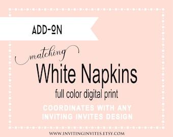 Professional Printing Services - White Napkins - Digital Print