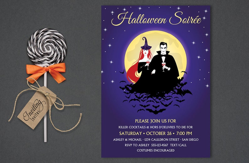 Halloween Invitation for Adults Couples Halloween Soiree image 0