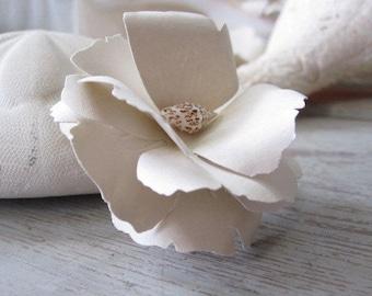 5 Sand and Seashell Handmade Paper Flowers