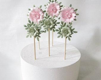 Wedding Cake Paper Flower Decorations