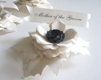 Bridal Party Paper Flower Place Cards