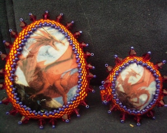 Red Dragon Ring and Brooch