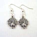 Peacock Earrings - Silver Peacock Jewellery